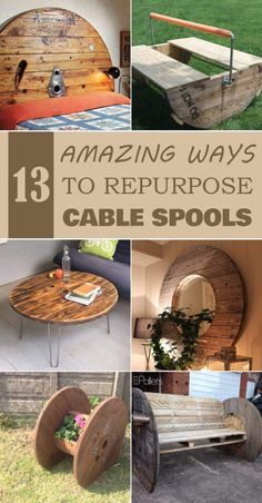 13 Amazing Ways to Repurpose Cable Spools Check out these amazing wooden cable spool ideas and get inspired for your own projects! Diy Cable Spool Table, Wooden Spool Tables, Wooden Cable Spools, Cable Spool Ideas, Spools For Tables, Cable Reel Ideas Garden, Cable Reel Table, Wooden Cable Reel, Wooden Spool Projects
