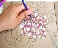 Painting Hydrangea Flowers Step by Step Tutorial