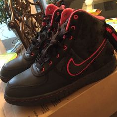Nike vandal high Black and berry size 6 youth (women's 7.5) Nike Shoes Sneakers
