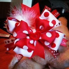 Over-the-Top Valentine's Hair Bow. $9.00, via Etsy.