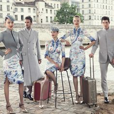 Chinese Airline Debuts Haute Couture Flight Attendant Uniforms for Fashion in the Sky