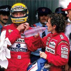 Ayrton Senna and Alain Prost, Mclaren Honda Alain Prost, Sport Cars, Race Cars, San Marino Grand Prix, Free Throw, F1 Drivers, F1 Racing, World Championship, Formula One
