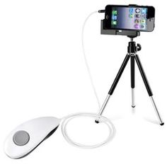 Insten Shutter Remote Control+Mini Rotatable Tripod Stand Holder For Apple iPhone 5 5S 5C 4S 4 iPod Touch iTouch 5th Gen