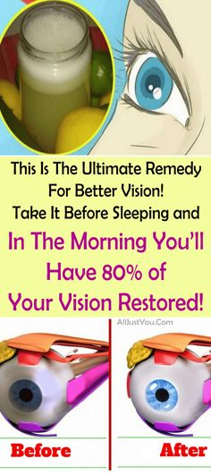 This Is The Ultimate Remedy For Better Vision! Take It Before Sleeping and In The Morning You'll Have 80% of Your Vision Restored! #health #eyes #beauty #remedy #cure #healthy