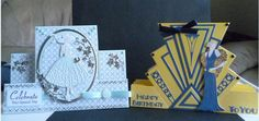Cards made using the Art Deco Stepper die set, Lauren die and Glitz and Glam Daisy Die