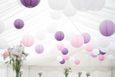 Decorative lanterns in shades of purple at a marquee wedding in Coosan. A real wedding by Couple Photography. Decorative Lanterns, Lanterns Decor, Colorful Bedding, Marquee Wedding, Shades Of Purple, Couple Photography, Real Weddings, Irish, Couples