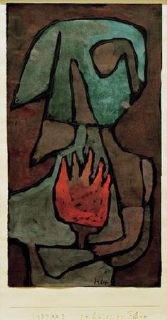 Paul Klee - sie huetet die Flamme(She Guarded the Flame) 1939 Chalk & tempera 17 x 32 cm Kunst Picasso, Art Picasso, Pablo Picasso, Abstract Expressionism, Abstract Art, Abstract Paintings, Oil Paintings, Landscape Paintings, Paul Klee Art