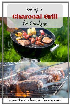 Set Up a Charcoal Grill for Smoking Smoker Cooking smoker grill cooking times Smoker Cooking, Cooking On The Grill, Cooking Pork, Cooking Turkey, Green Egg Recipes, Charcoal Smoker, Bbq Pitmasters, Shish Kebab, Smoked Beef Brisket
