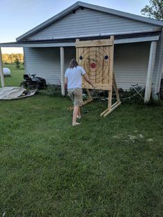 Post with 10 votes and 1066 views. Tagged with axe throwing; Diy Yard Games, Backyard Games, Archery Hunting, Archery Range, Archery Arrows, Deer Hunting, Knife Throwing, Diy Knife, Wooden Pallet Projects
