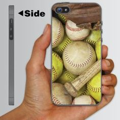 Amazon.com: iPhone 5 Case - Baseball & Softball Picture - CLEAR Protective Hard Case: Electronics