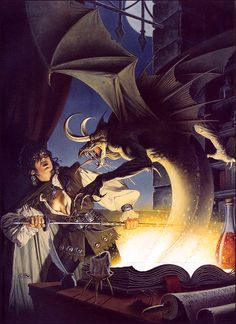 CLYDE CALDWELL - art for Forbidden Lore (AD&D 2nd edition, Ravenloft) by Bruce Neamith & William W. Connors - 1992 TSR