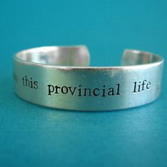 Belle Bracelet - Beauty and the Beast -I want much more than this provincial life. $22.00, via Etsy.