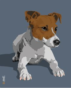Jack Russell Terrier Dog Art Print by Aimee Liwag
