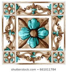 Mandala Art, Tile Patterns, Pattern Art, Art Texture, Devian Art, Decoupage Vintage, Paris Art, Plate Art, Islamic Art Calligraphy