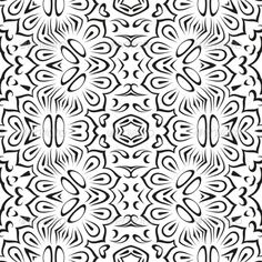 Abstract seamless background with black symbolical floral patterns on white  Vector EPS 8 plus AI CS 5 plus high-quality Jpeg. Edi