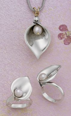 Calla Lily Pendant and Ring from James Avery Jewelry