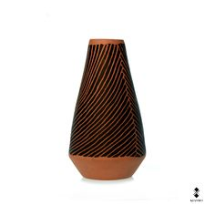 Vases   Series Spiral   Spiral VI   2013   Designer Vincenzo D'Alba   Ceramic, 18x12,5 cm   Handmade ceramic vase. Single work signed by the author. Kiasmo   Made by Collection   All the works and products by kiasmo can be purchased at www.kiasmo.it
