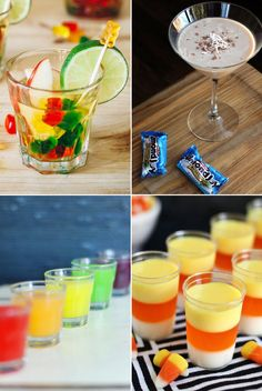 Candy and booze. Two of life's simple pleasures. Combine them and you get a pretty sweet beverage. We have 10 cocktail recipes to satisfy your cravings. If you're planning a Halloween party, we've got the tricks to make the perfect grown-up treat!