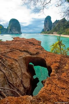 meridiana-me: Railay Beach in Thailand Railay Beach Thailand, Khao Lak Beach, Thailand Vacation, Thailand Travel, Visit Thailand, Asia Travel, Places Around The World, Oh The Places You'll Go, Places To Travel