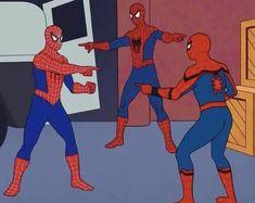 When the tensions reach the boiling point, everyone is worried about themselves Cartoon Memes, Marvel Memes, Dankest Memes, Meme Gifs, Math Memes, Spiderman Meme, Blank Memes, You Meme, Meme Template