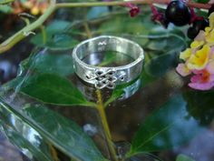 Braveheart ring Celtic Knot endless shield  sterling by ApacheMoon, $49.99