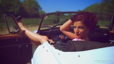 pin-up, rétro/vintage, voiture MG