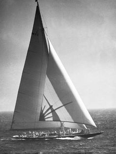 size: Photographic Print: Endeavor II Losing America's Cup Poster by Bettmann : Classic Sailing, Classic Yachts, Framed Artwork, Wall Art, Art Prints For Sale, America's Cup, Frames On Wall, Black And White Photography, Find Art