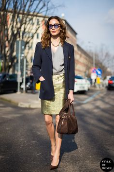 Milan Fashion Week FW 2014 Street Style: Ece Sukan