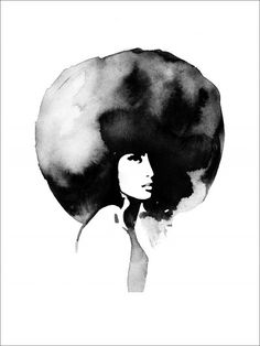 lady with big haircut- poster - copy