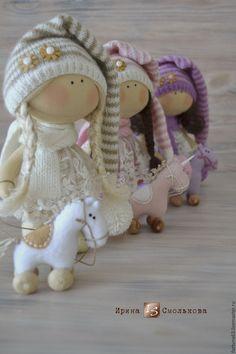 Купить текстильная куколка-малышка - розовый, кукла, текстильная кукла, кукла текстильная, кукла интерьерная