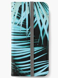 """Palm Leaves Summer Night Vibes #1 #tropical #decor #art"" iPhone Wallets by anitabellajantz 