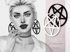 Omen Earrings by Pralinesims at TSR • Sims 4 Updates