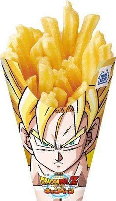 Super Saiyan Fries smile emoticon Found on comicsalliance.com