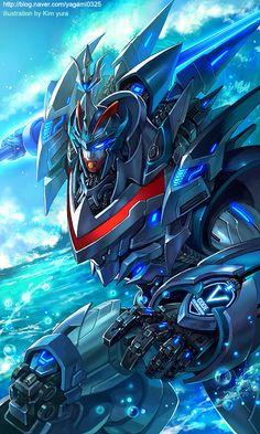 Mechanical warriors V - TaekwonV by *GoddessMechanic on deviantART