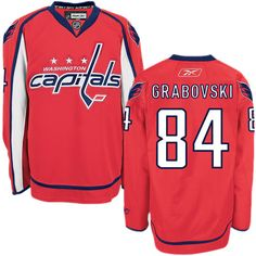 Authentic Mikhail Grabovski Red Men s NHL Jersey   84 Washington Capitals  Reebok Home Hockey Teams 53e80c9cc