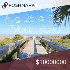 Posh N Sip! On the Beach!! Thrift Shops & Flip Flops! Wear your best Poshmark or thrifted find and your cutest flip flops to the islands first Posh N Sip. Prepare to mingle and sip the afternoon away and join us as we stick our toes in the sand afterwards ❤️✌ You wont want to miss this photo-op! Address will be sent closer to event to those who are registered on Eventbrite! This event will be at a beach house. Posh N Sip Other
