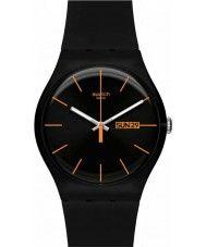 Mens Swatch New Gent  Dark Rebel Watch 47.50 Watches2U