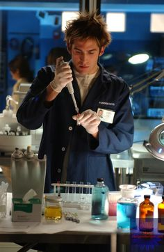 Greg Sanders - CSI: Las Vegas. I wanted to become a forensic scientist because of him... and his hair.