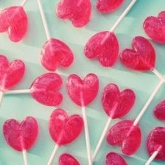 be my valentine - red heart lolly pops Colorful Candy, Pink Candy, Lollipop Candy, Candy Party, Sugar Love, I Love Heart, Everything Pink, All You Need Is Love, Be My Valentine