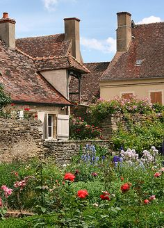 Large Old walls, window shutters, a garden full of wild flowers. It's all so common in France and completely uncommon here in NL. Mars In Sagittarius, Old Wall, Window Shutters, My Dream, Wild Flowers, In This Moment, Photo And Video, Vacation, Burgundy France
