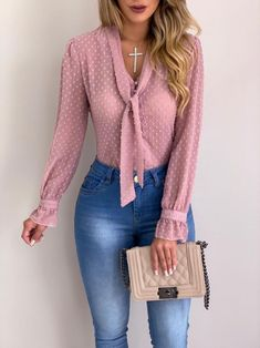 Cysincos chiffon blouses women 2019 autumn fashion long sleeve v-neck pink shirt office blouse slim casual tops female plus size cysincos chiffon blouses women 2019 autu by Trend Fashion, Autumn Fashion, Fashion Outfits, Fashion Women, Fashion Blouses, Women's Fashion, Fashion Ideas, Fashion 1920s, Fashion Wigs