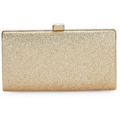La Regale Glitter Clutch ($88) ❤ liked on Polyvore featuring bags, handbags, clutches, bolsas, bags and purses, gold, imitation handbags, glitter handbag, faux-leather handbags and la regale purse
