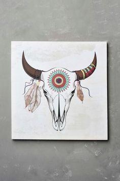 Southwest Cow Skull Canvas Art