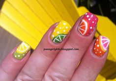 Citrus Nails by pamsgirlybits.blogspot.de