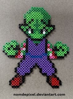 Piccolo Dragon ball perler beads by NomDePixel