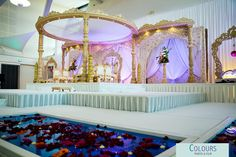 Wed In Style's mandap at Sattavis Patidar Centre, Wembley www.coloursphotofilm.co.uk www.wed-in-style.co.uk #weddings #wedinstyle #mandaps #decorations #weddingideas #weddinginspiration