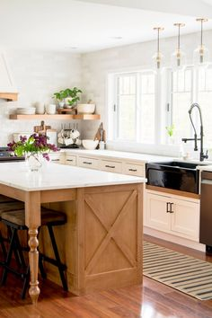 Kitchen design has its challenges, like what to do with that wasted corner space! Here are some creative corner cabinet ideas for your remodel. #fromhousetohaven #kitchendesign #cornercabinet #kitchen #customkitchen Custom Kitchens, Modern Farmhouse Kitchens, Farmhouse Style, Farmhouse Decor, Country Kitchen, Rustic Decor, Kitchen Design, Kitchen Decor, Kitchen Ideas