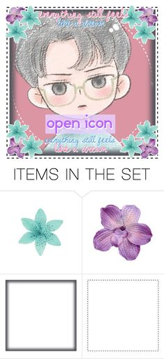 """Open Chibi Sehun Icon"" by niamho99 ❤ liked on Polyvore featuring art"