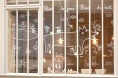 "PARIJS le petit atelier de paris- I heard this small studio has amazing ceramics, jewelry & porcelain crafted by the owners. With the motto of ""Du bonheur au quotidien"" ( Happiness in the everday ) Boutiques, Resto Paris, Instalation Art, Liquid Chalk, Shop Window Displays, Retail Displays, Merchandising Displays, Chalk Drawings, Window Art"