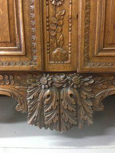 Grande Armoire DE Mariee Normande Style Louis XV XIX 19E Chapeau Gendarme Violon | eBay